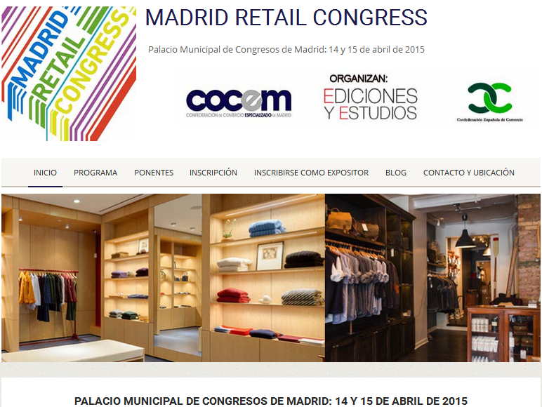Madrid Retail Congress 14 y 15 abril. Palacio Municipal de Congresos