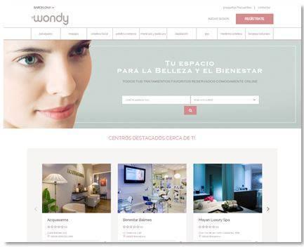 Wondy, portal de  reservas de belleza y salud de LetsBonus