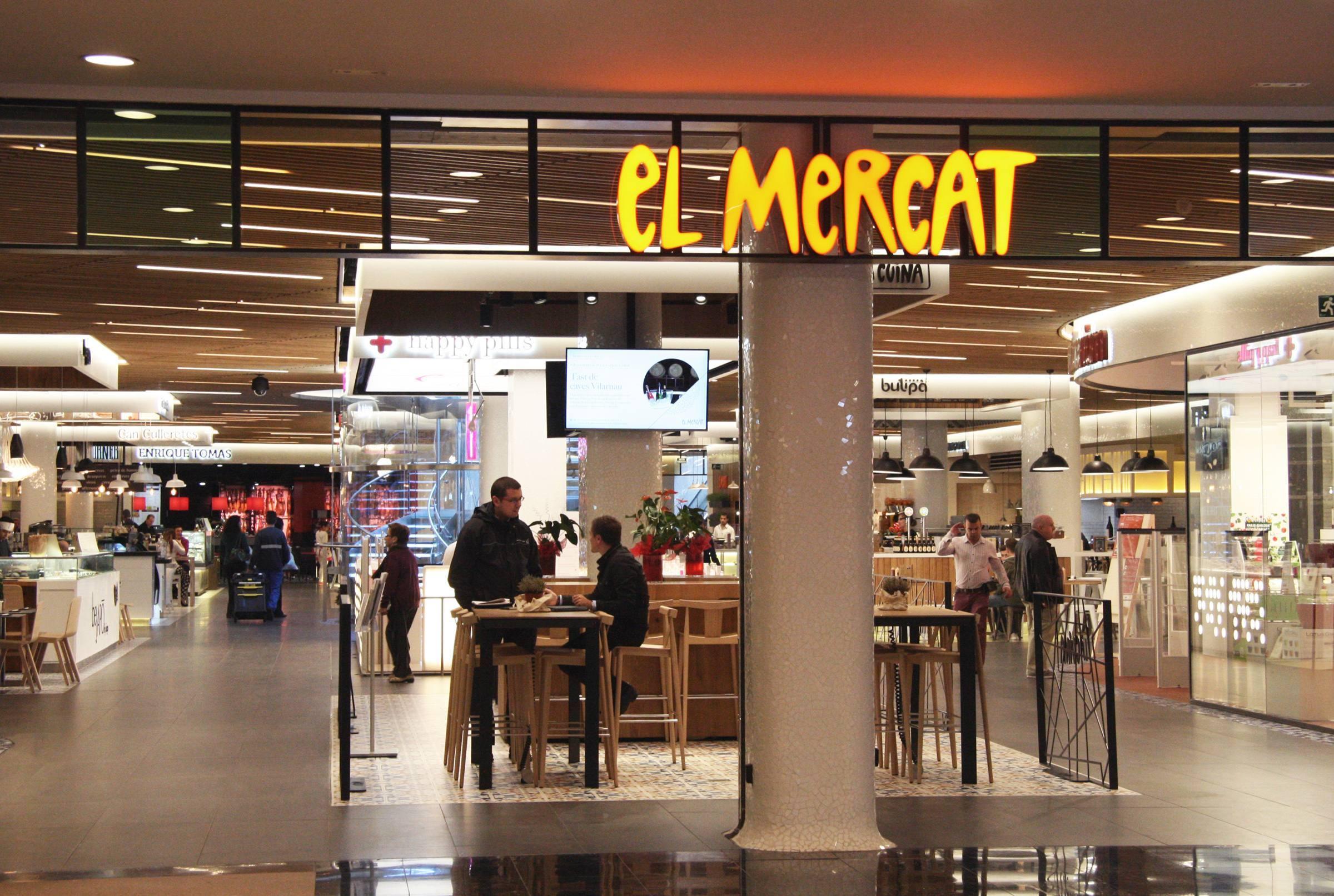 Gl ries nico centro comercial con servicio de food for El mercat de les glories