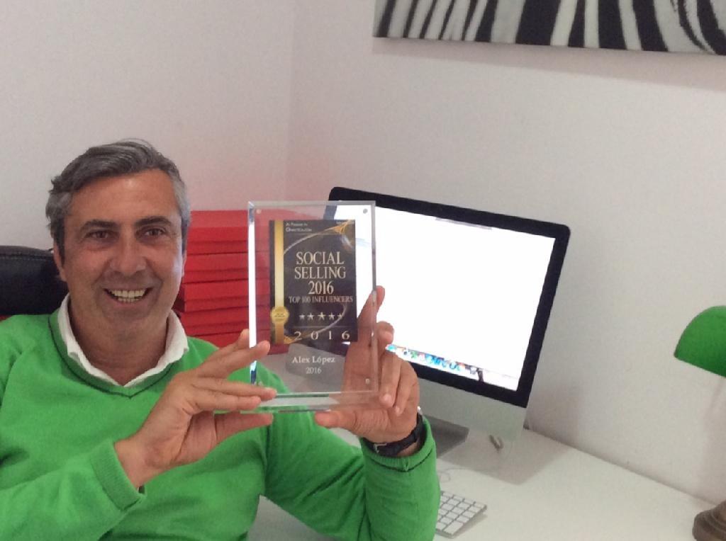 Álex López, Top 20 Mundial Social Selling , Nº 1 en español, según el informe de Onalytica