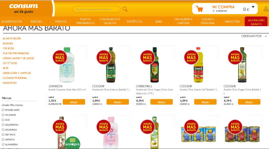 Consum lanza supermercado online, con todo el surtido incluyendo frescos