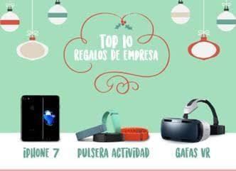 Top 10 regalos de empresa en Navidad. La tecnología arrasa