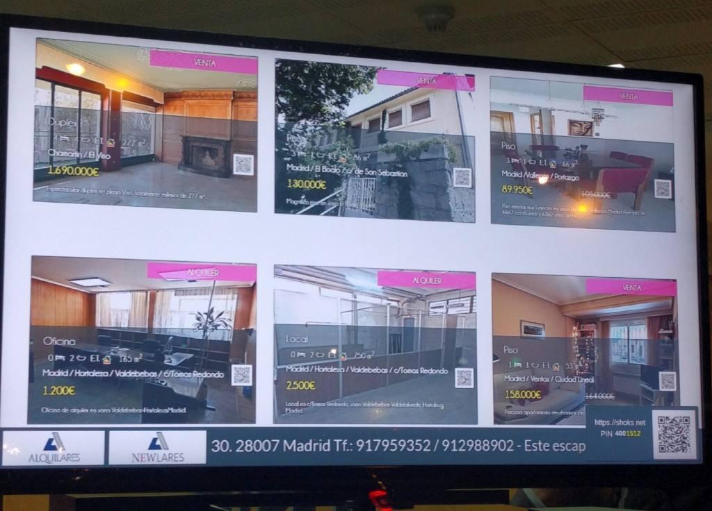 Escaparates interactivos de Movilok en la inmobiliaria Alquilares