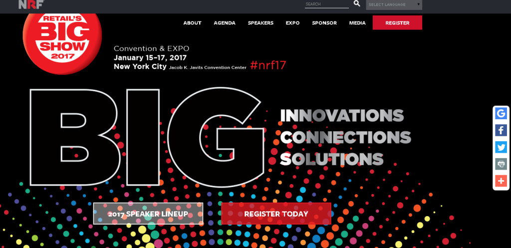 "#NRF17 ""Innovations, Connections, Solutions"". ESPECIAL Big Show en D/A Retail"