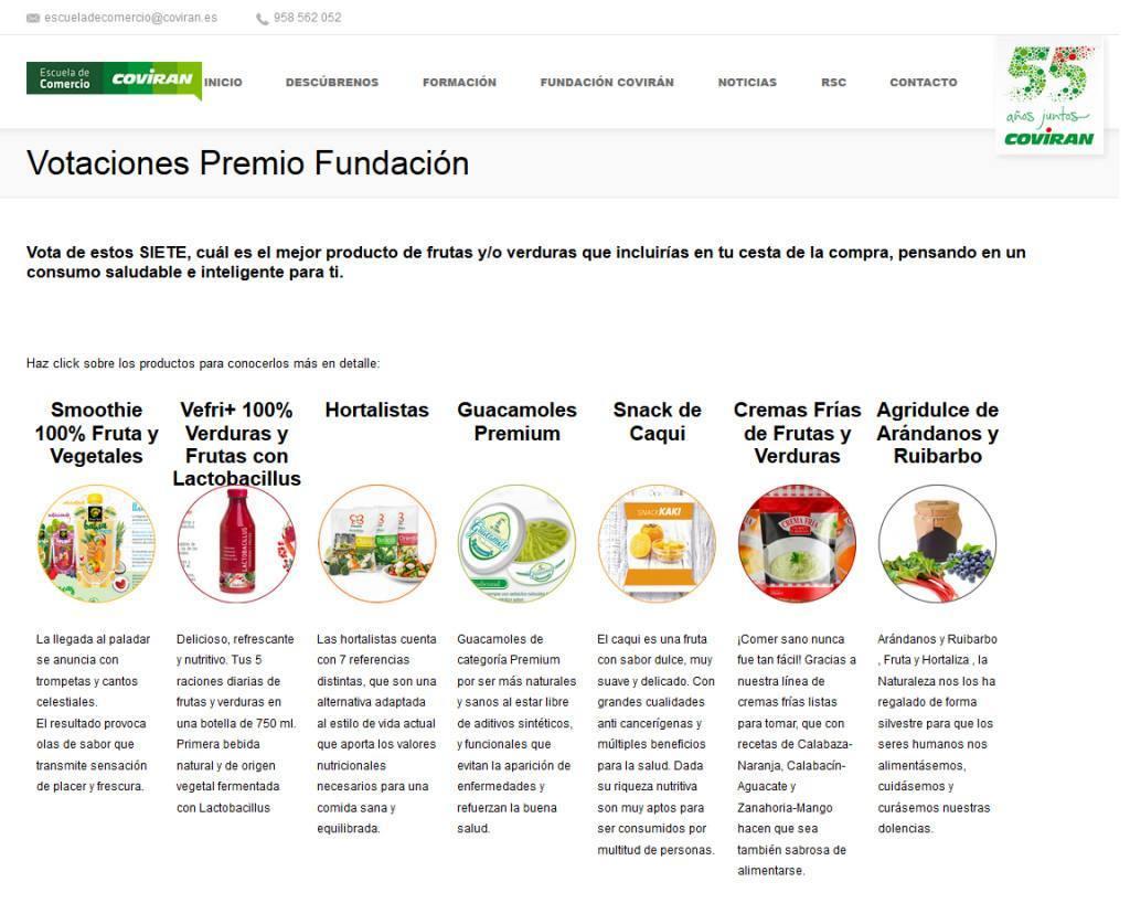 Candidaturas premio Fundación Covirán