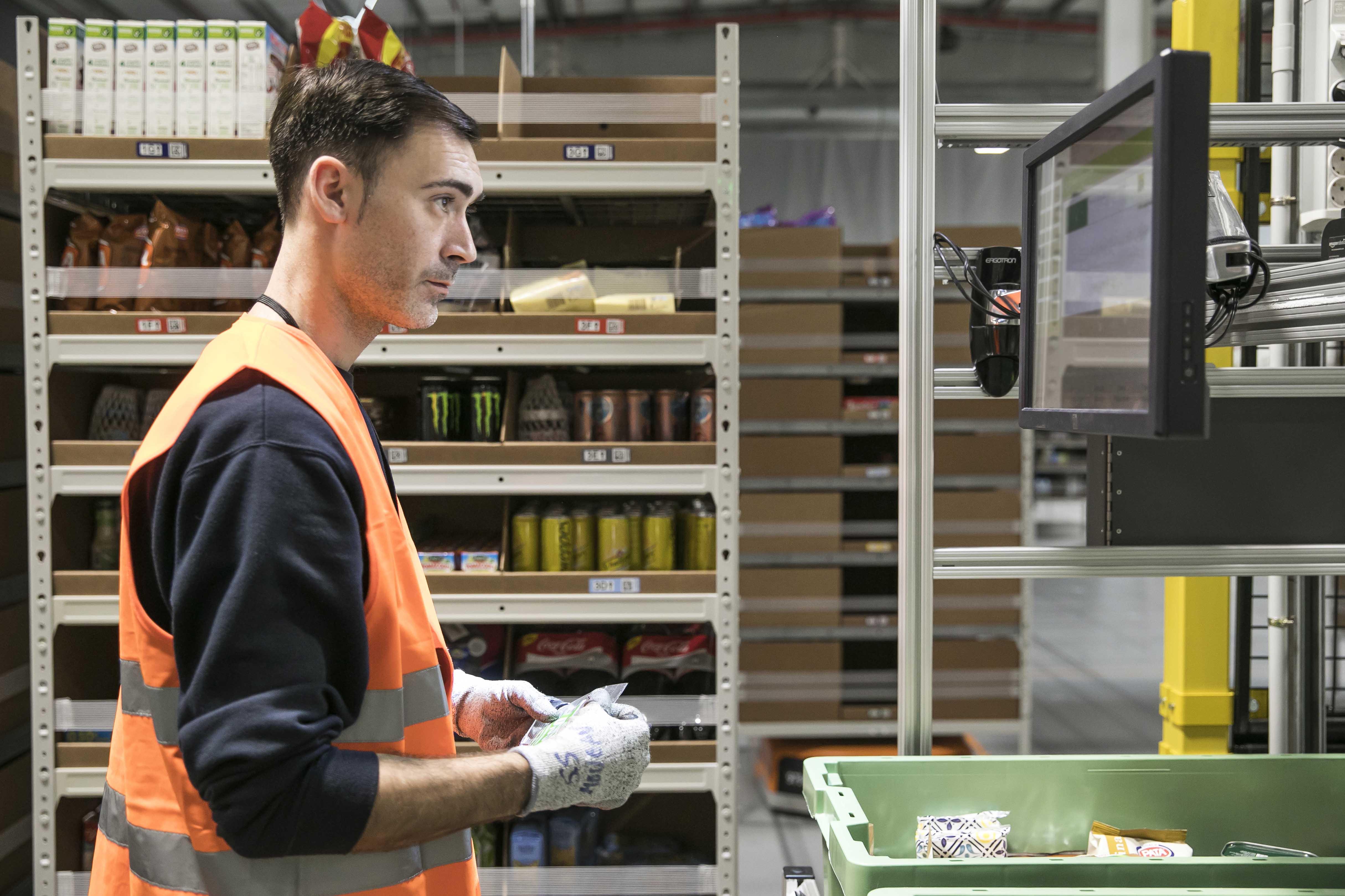 Amazon Robotics para el centro logístico de Amazon en Barcelona