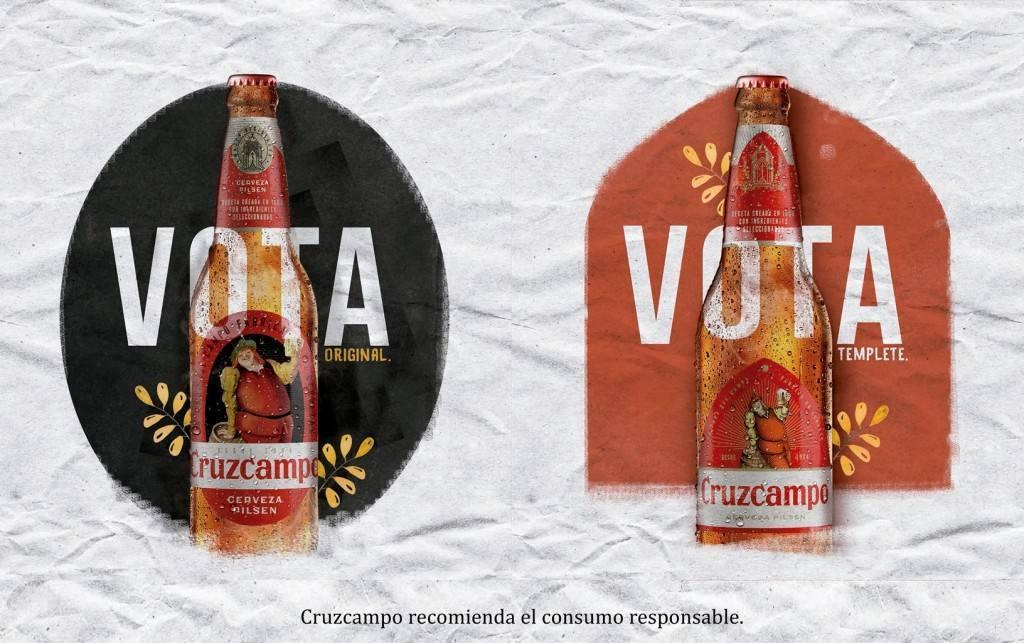 Referéndum Cruzcampo. Sus seguidores, elegirán la nueva imagen