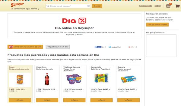 Así es la nueva aplicación móvil de los supermercados DIA