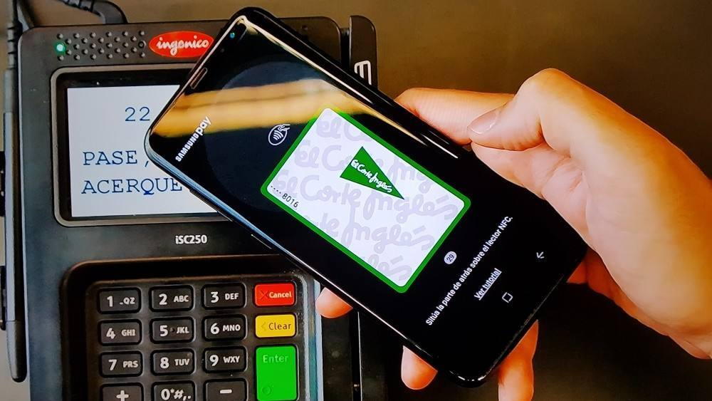 Los clientes de la tarjeta de El Corte Inglés, ya pueden pagar con Samsung Pay