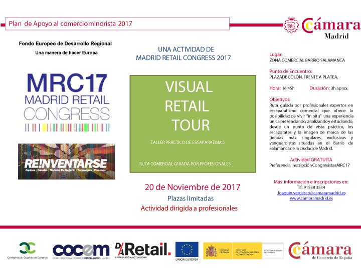 RETAIL VISUAL TOUR, TALLER DE ESCAPARATISMO CON  #MRC17. APÚNTATE AQUÍ