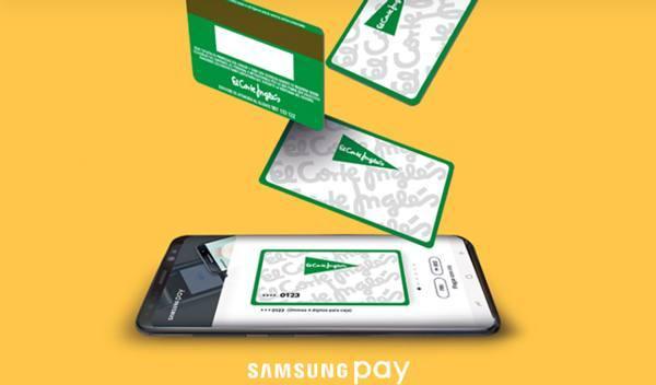 La tarjeta de El Corte Inglés- Samsung Pay, supera las 100.000 transacciones