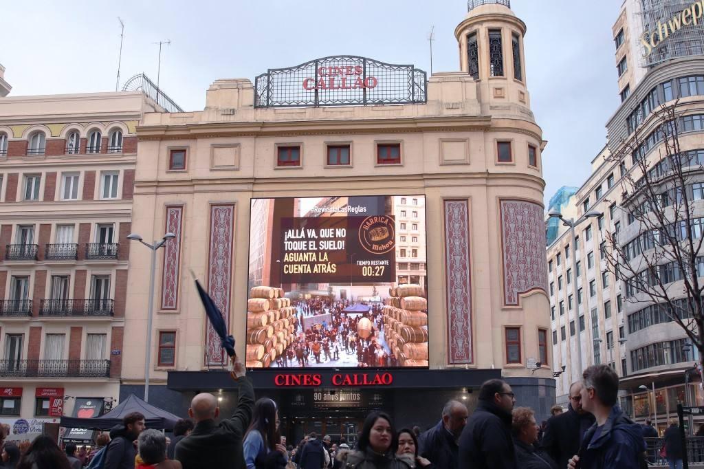 Realidad Aumentada y experiencia de marca Mahou, en Callao-Madrid