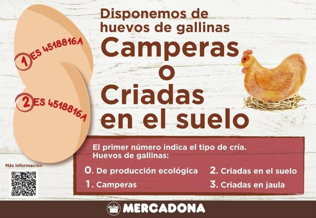 Mercadona introduce sus primeros huevos libres de jaula con Guillén