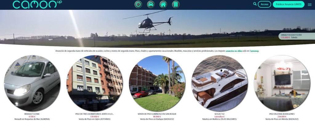CamonUp, plataforma de compra-venta que permite añadir videos