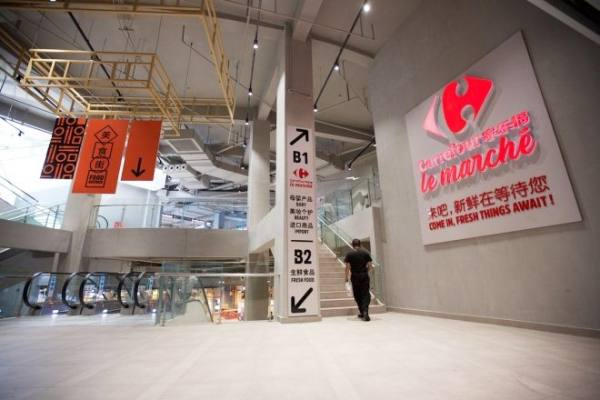 Cara y cruz en Grupo Carrefour. Supermercado inteligente en China, cierres en Francia