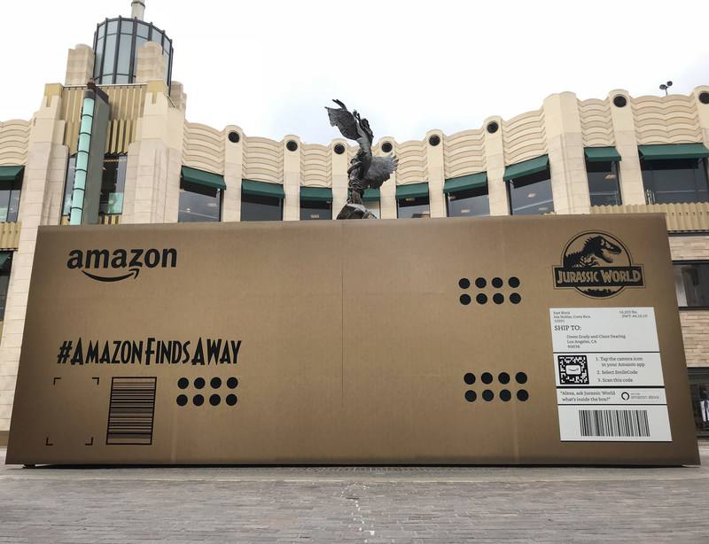 """""""Jurassic World"""", la mayor entrega en la historia de Amazon. ¿Qué contiene?"""