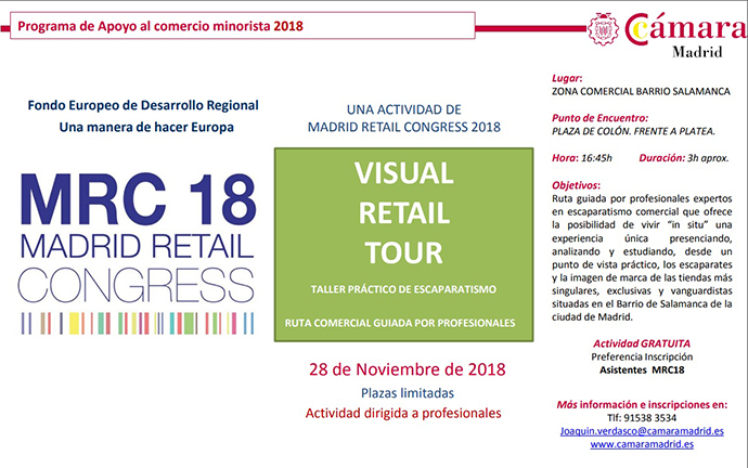Retail Visual Tour 2018. Taller de Escaparatismo con #MRC18