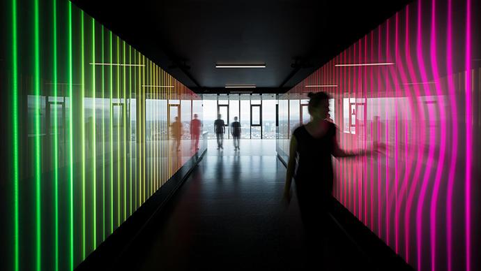 Imagen de unas de las áreas del Customer Experience Center Frankfurt de la consultora PwC.