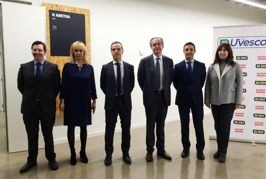 El equipo directivo de Uvesco en la presentación de resultados y proyectos del Grupo