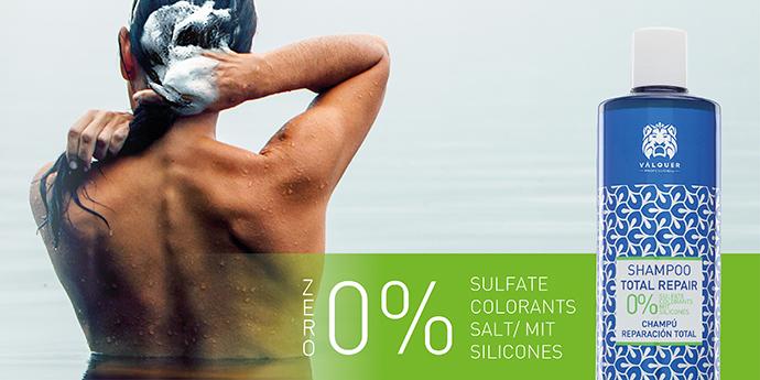 Línea zero % de laboratorios Válquer, champús ecológicos respetuosos con la piel