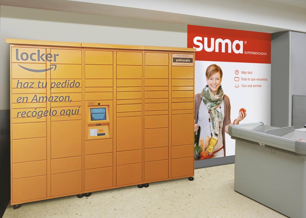 Amazon Lockers en los supermercados de GM Food