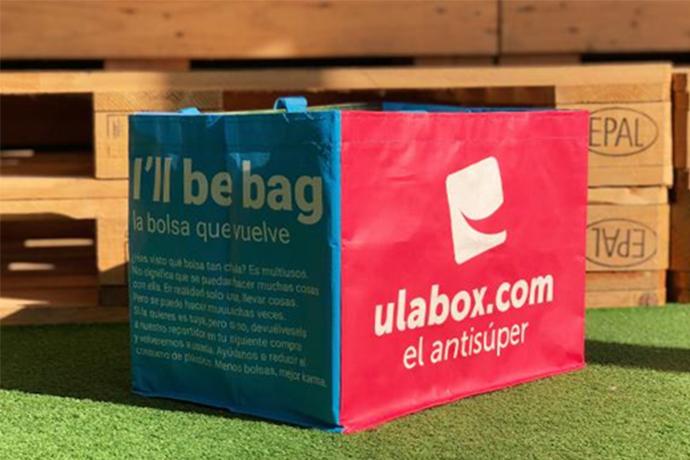 Ulabox ha contado con la colaboración de Coca Cola European Partners, que patrocina estas bolsas reutilizables.