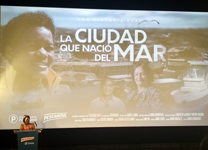 """Nelado Nwedhi, protagonista del documental """"La ciudad que nació del mar"""", elaborado por la Nueva Pescanova. Foto: Rocío Calderón"""
