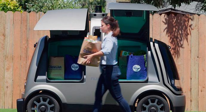 Kroger, usará vehículos autónomos para repartir pedidos online