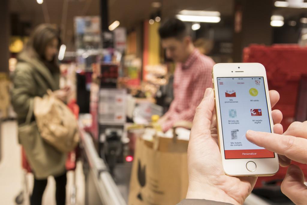 Eroski implanta el tique digital en la nueva versión de su aplicación
