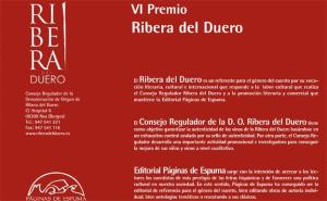 El VI Premio Internacional de Narrativa Ribera del Duero