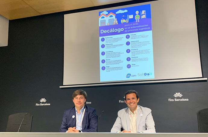 Ramón García, director de innovación y proyectos de CEL, y Lluis Soler Gomis, CEO de SoftDoit