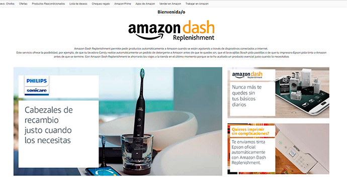 Amazon Dash Replenishment, ya en España