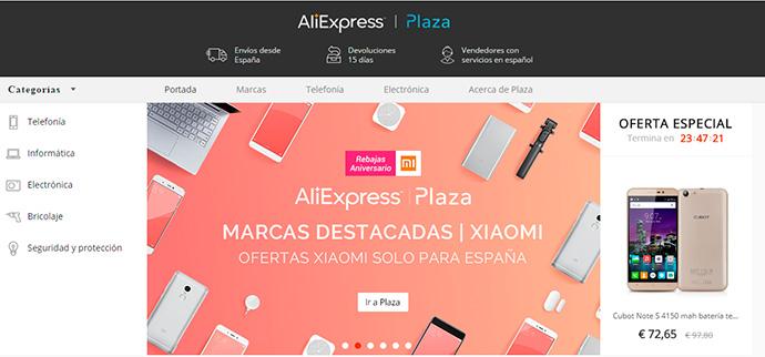 Objetivo de AliExpress Plaza. 10.000 empresas para 2019