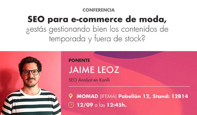 SEO para e-commerce de moda, a debate en el MOMAD 2019
