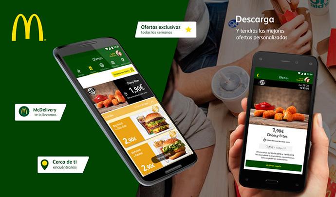La app de McDonald's, líder en la categoría de restauración y 'delivery'