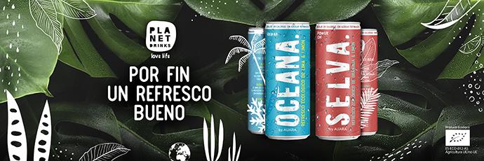 Auara lanza Planet Drinks, la primera marca de refrescos de comercio justo