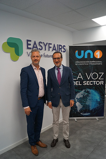 Matt Benyon, CEO de Easyfairs UK & Global, y Francisco Aranda, presidente de UNO
