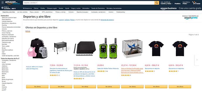 Los productos deportivos resultan la segunda categoría de mayor crecimiento en Amazon