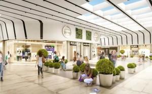 Imagen digital recreada del espacio renovado del centro comercial extremeño.