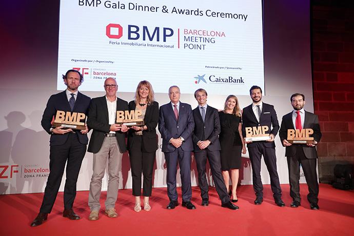 Durante la cena de gala de Barcelona Meeting Point se entregaron los premios BMP 2019, que reconocen los mejore trabajos en el sector inmobiliario