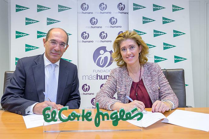 (De izq. a der) Jose Luís González-Besada, de El Corte Inglés, y María Sánchez Arjona, de Fundación máshumano