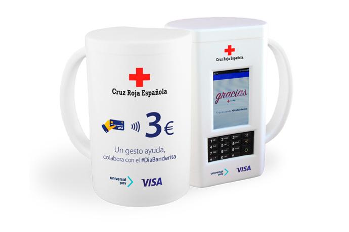 La hucha de Cruz Roja incorpora un sistema de pago sin contacto para hacer donaciones con tarjeta o móvil