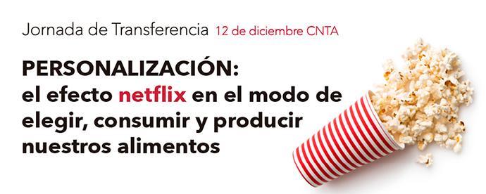 Cartel de la jornada organizada por CNTA para abordar la personalización en alimentación
