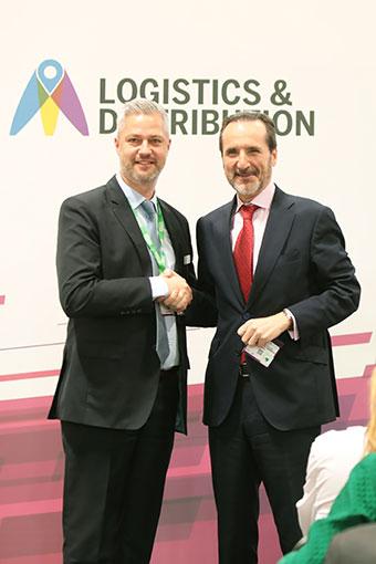 Matt Benyon, CEO de Easyfairs UK & Global y Francisco Aranda, Presidente de UNO Logística
