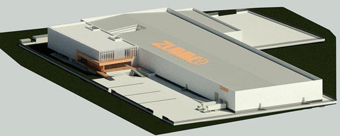 Vista general del proyecto de la nueva sede de Zummo