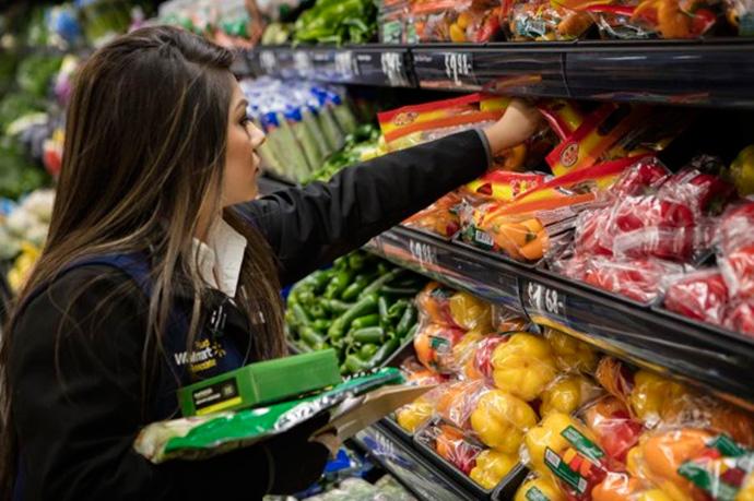 Los alimentos frescos catapultan las ventas digitales de Walmart en su tercer trimestre