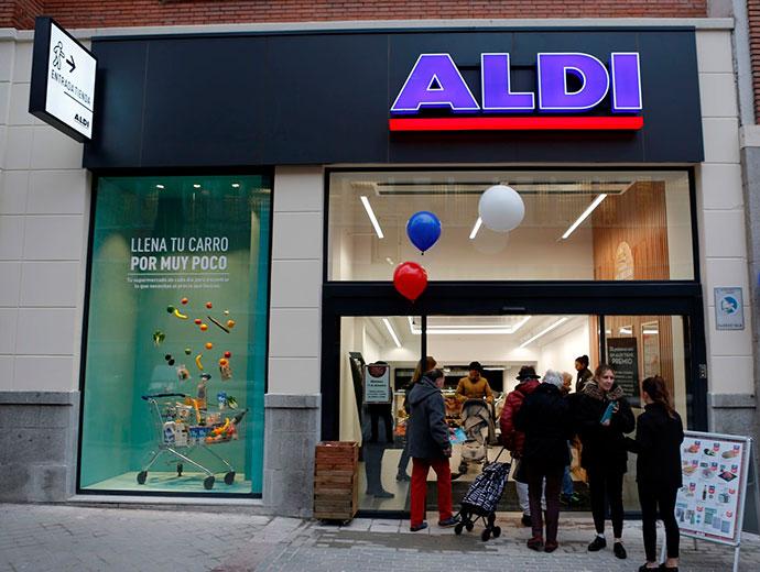 La nueva tienda de Aldi en el barrio de Salamanca.