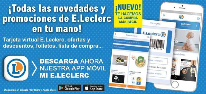 E.Leclerc avanza en trasformación digital, lanza su nueva app