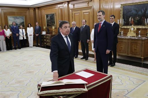 Luis Planas, ministro de Agricultura. Fuente: Casa Real.