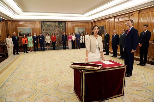 Reyes Marto, ministra de Industria. Fuente: Casa Real.